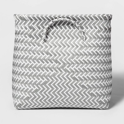 Cube Storage Bin Gray and White 13  - Room Essentials™