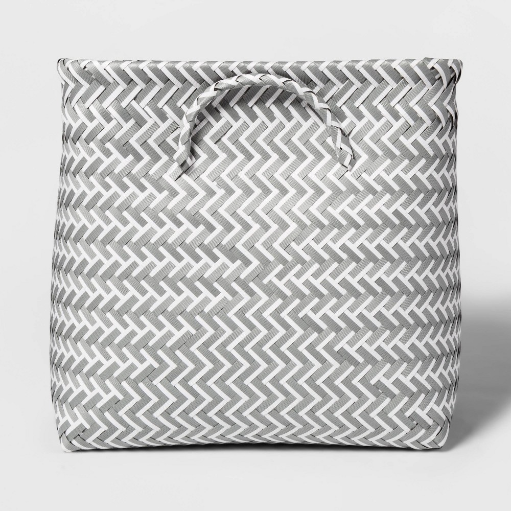 """Image of """"Cube Storage Bin Gray and White 13"""""""" - Room Essentials"""""""