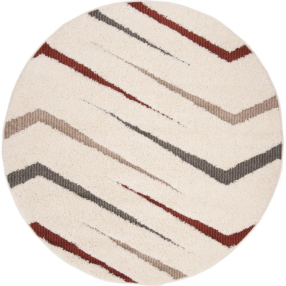 67 Geometric Loomed Round Area Rug Cream - Safavieh Buy