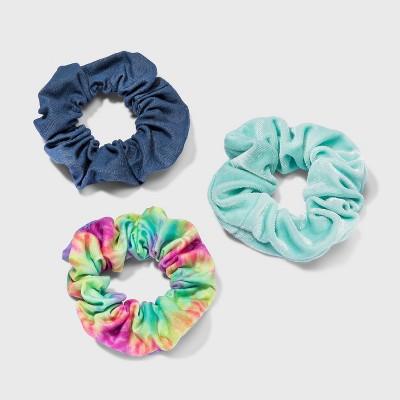 Girls' 3pk Scrunchie with Tie-Dye Hair Elastic - Cat & Jack™