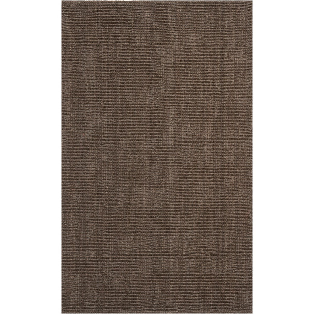 4'X6' Solid Woven Area Rug Brown - Safavieh