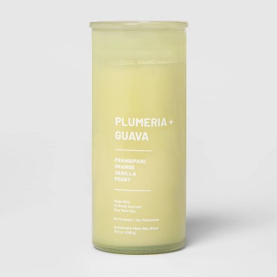 10.5oz Glass Jar Wellness Candle Plumeria & Guava - Project 62™
