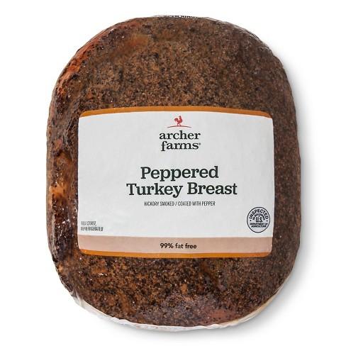 Peppered Turkey Breast - Deli Fresh Sliced - price per lb - Archer Farms™ - image 1 of 1