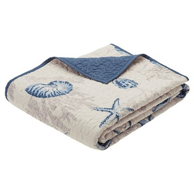Blue Nantucket Oversized Quilted Throw (60 X70 )