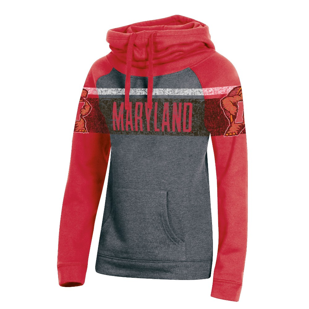 Maryland Terrapins Women's Cowl Neck Hoodie - XL, Multicolored