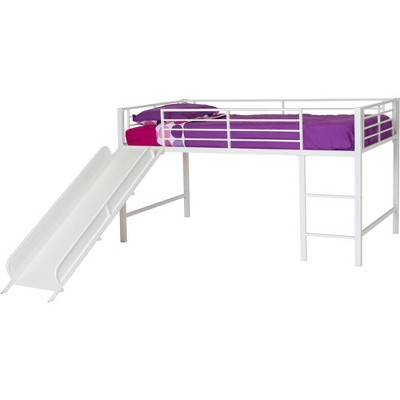 Kids' Melia Junior Metal Loft Bed with Slide White - Room & Joy