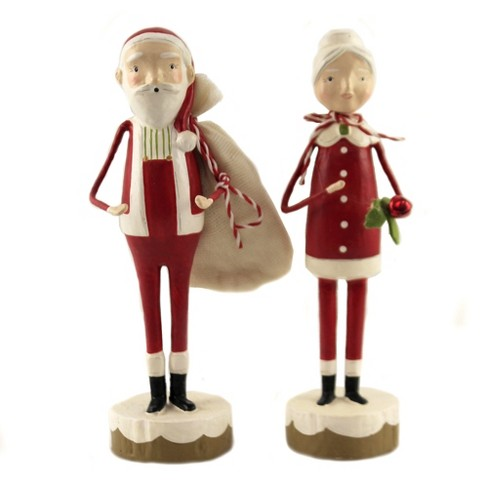 Christmas 7 25 Santa And Mrs Claus North Pole Bag Presents Decorative Figurines Target