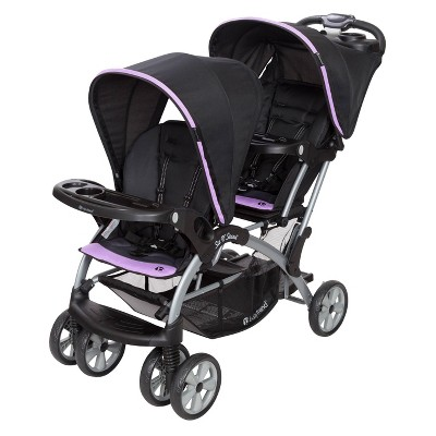 Baby Trend Sit N' Stand Double Stroller - Optic Violet
