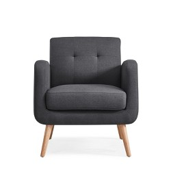 Kenneth Mid Century Modern Arm Chair - Charcoal - Handy Living