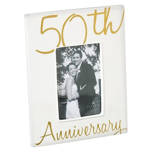 Ceramic Picture Frame For Anniversary - image 1 of 1