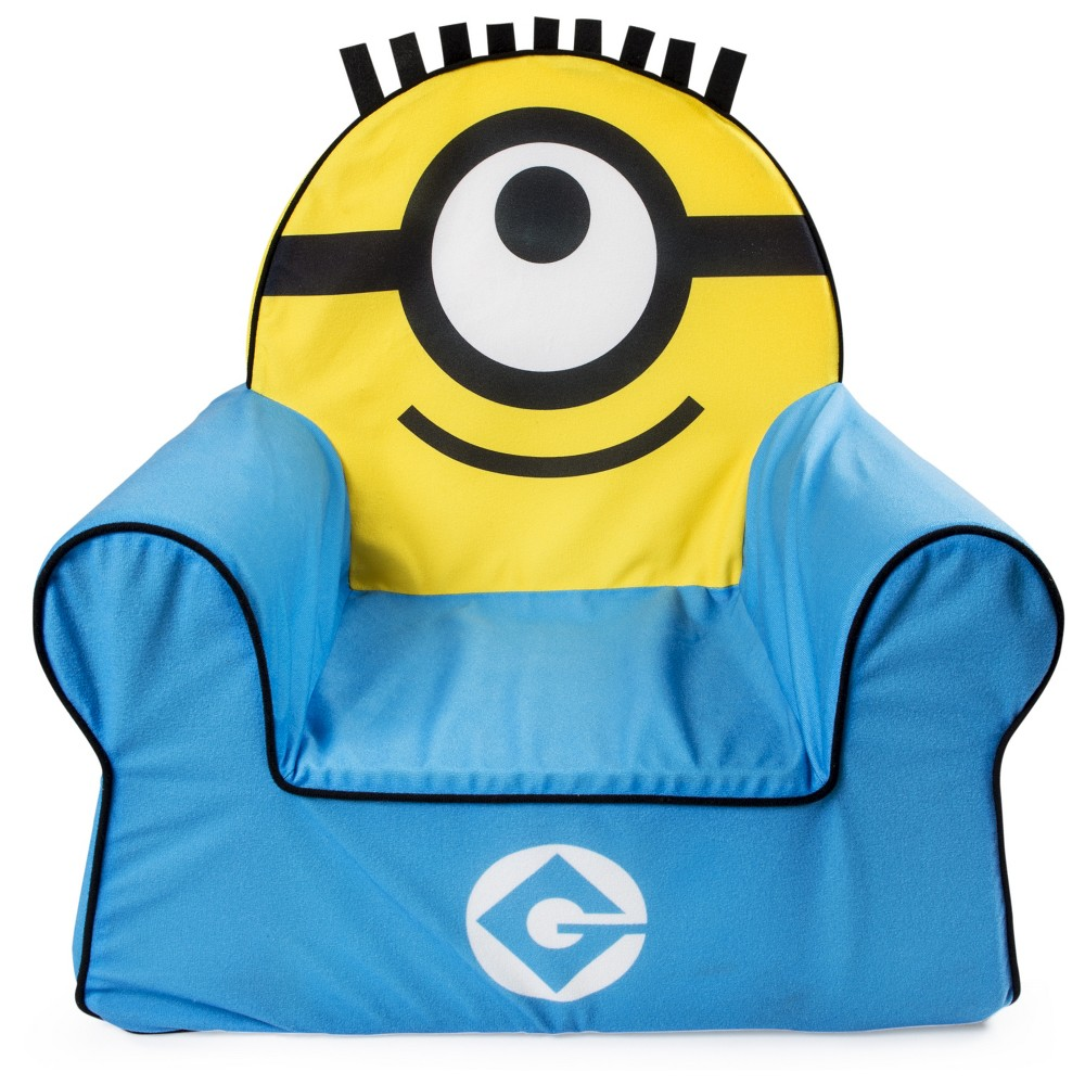 Marshmallow Furniture Children's Foam Comfy Chair Despicable Me Minions by Spin Master, Yellow