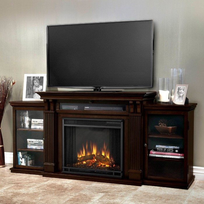 Real Flame - Calie Electric TV-Media Fireplace - image 1 of 6