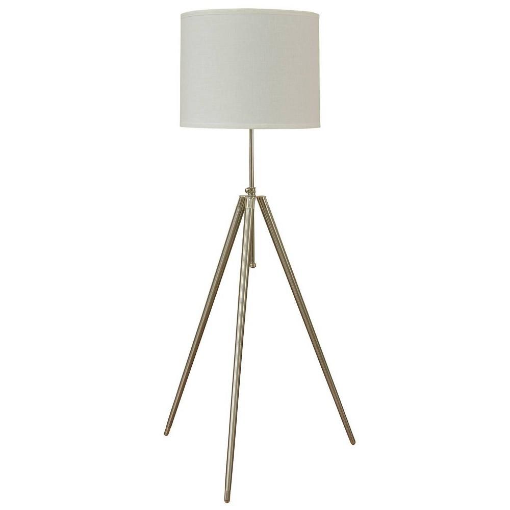 Floor Lamp Steel (Silver) (Includes Light Bulb) - StyleCraft