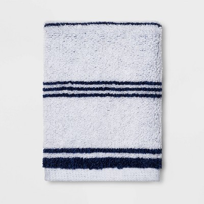 Performance Washcloth Navy Stripe - Threshold™