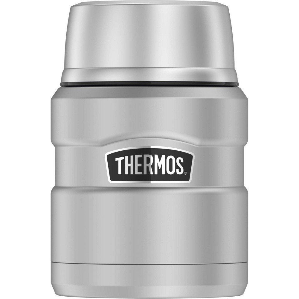 Image of Thermos 16oz Stainless King Food Jar with Spoon - Stainless Steel