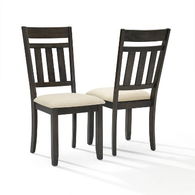 Set of 2 Hayden Slat Back Dining Chairs Slate - Crosley