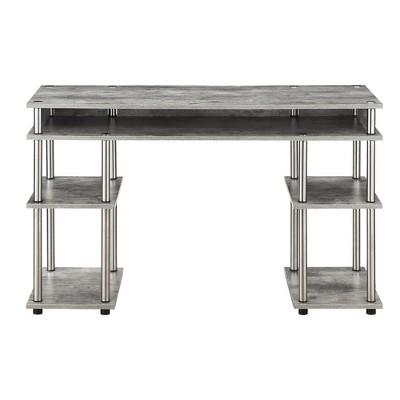 Designs2Go No Tools Student Desk Faux Birch White - Johar Furniture