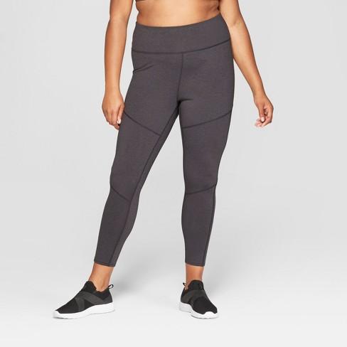 Women\'s Plus Size Performance High-Waisted 7/8 Mini Striped Leggings ...