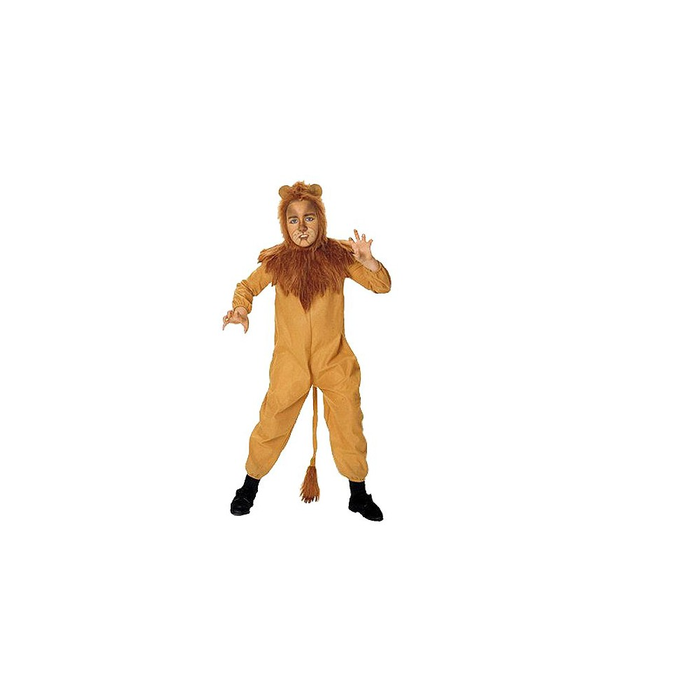 The Wizard of Oz Cowardly Lion Kids' Costume Brown, Boy's, Size: S(4-6)