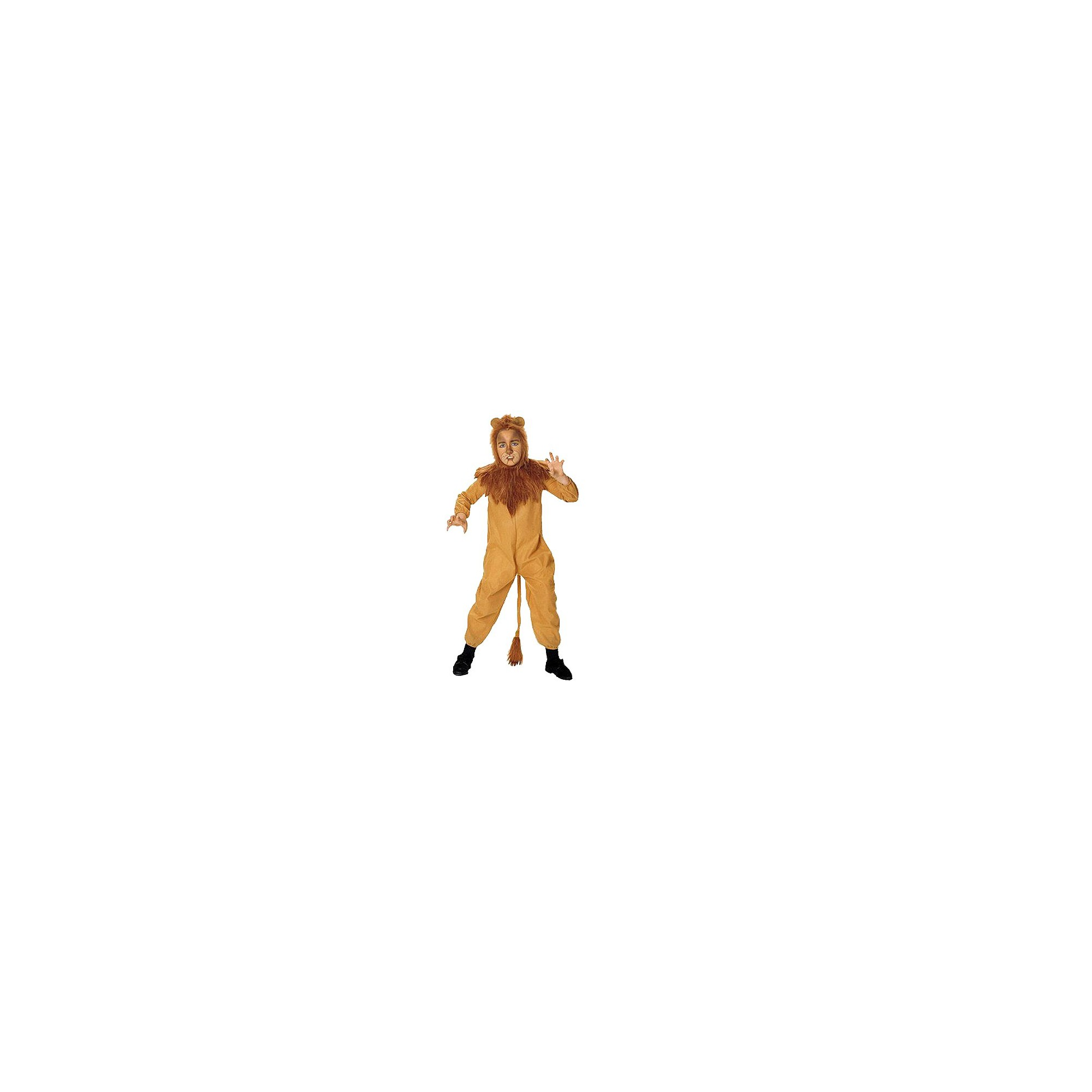 Halloween The Wizard of Oz Cowardly Lion Kids' Costume Brown, Men's