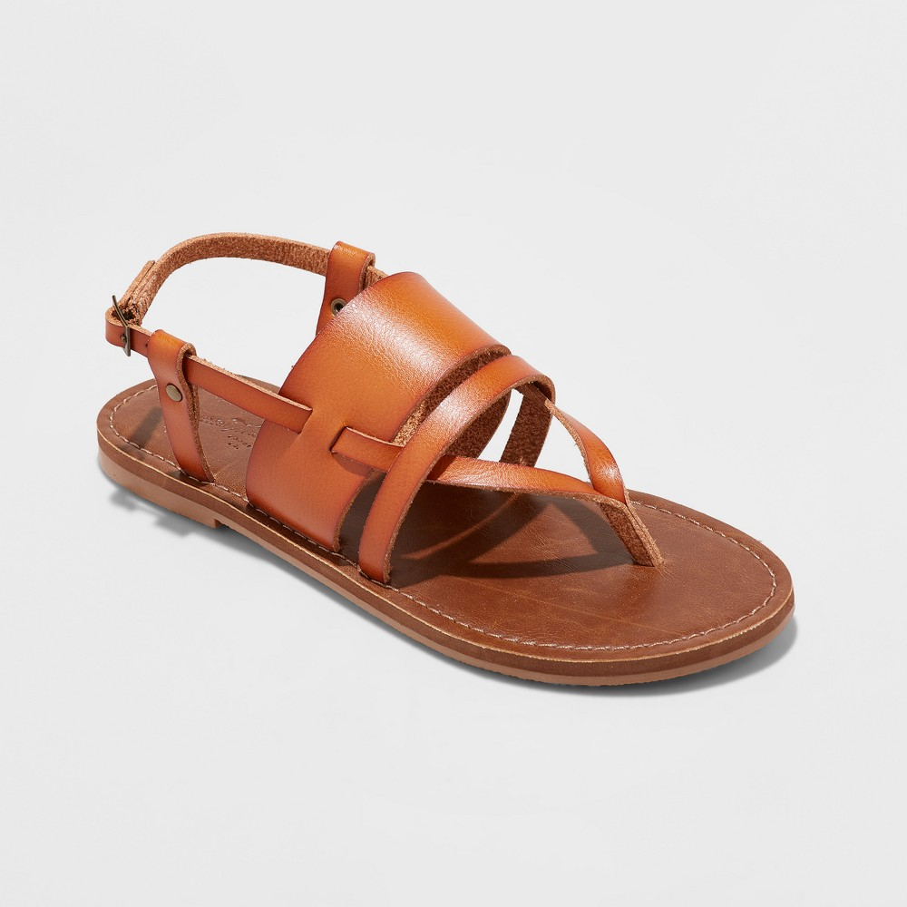 Women's Sonora Toe Thong Sandals - Universal Thread Cognac 8, Brown