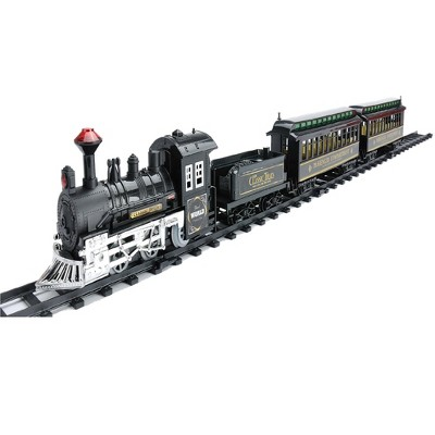 Northlight 14-Piece Battery Operated Lighted and Animated Classic Train Set with Sound 10.5""