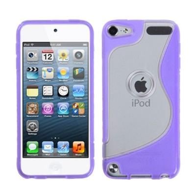 MYBAT For Apple iPod Touch 5th Gen/6th Gen Clear Purple S Shape Candy Case