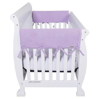 Trend Lab CribWrap Fleece Rail Covers - Wide Short - 2pk - Lavender