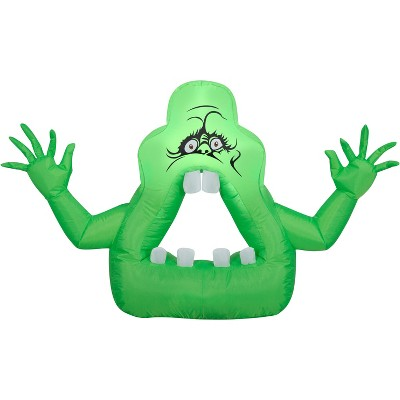 Gemmy Airblown Cutie Slimer Ghost Ghostbusters, 2.5 ft Tall, green