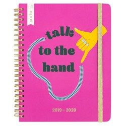 "2019-2020 Academic Planner 6""x 7.75"" Talk To The Hand Pink - Yoobi™"