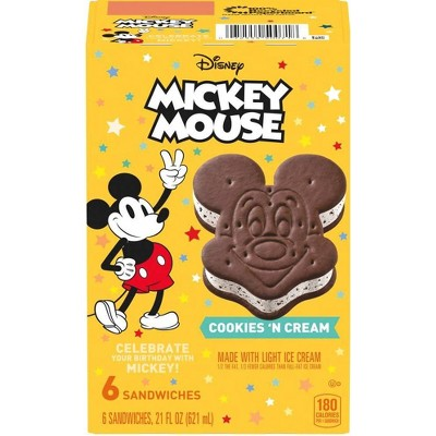 Disney Mickey Mouse Ice Cream Sandwiches - 6ct