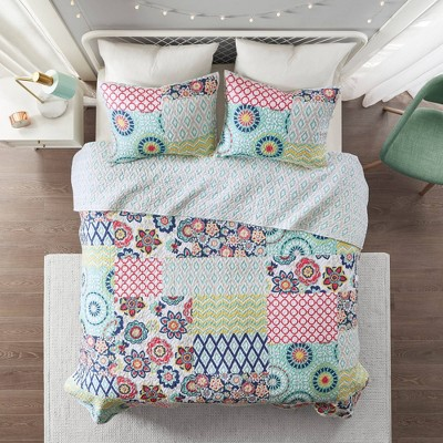 Remy Printed Reversible Cotton Coverlet Set
