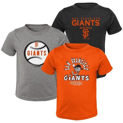 info for 52ed4 a7609 MLB San Francisco Giants Toddler Boys' Gray T-Shirt 3pk