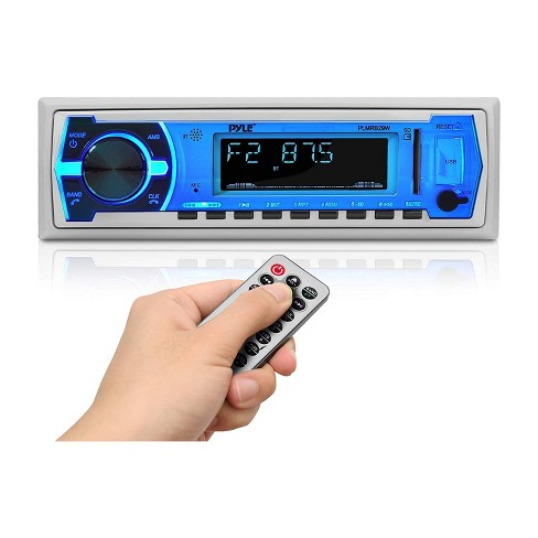 Pyle PLMRB29W Bluetooth Wireless In Dash Stereo Radio Head Unit Receiver with Wireless Music Streaming and Hands Free Calling, White - image 1 of 4