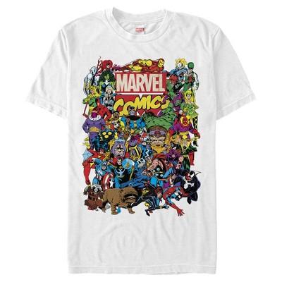 Men's Marvel Hero Epic Collage T-Shirt
