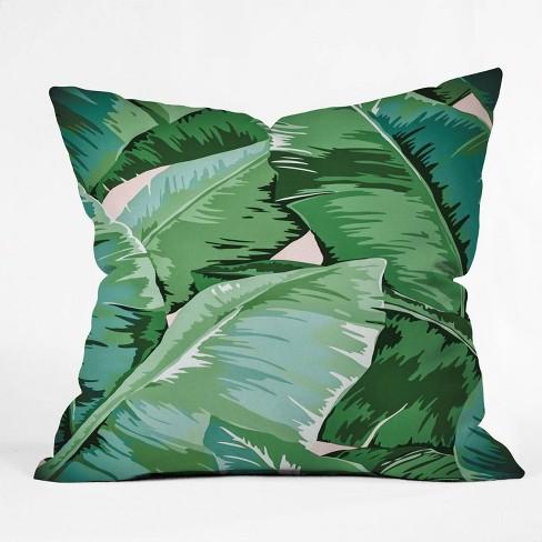 Gale Switzer Banana Leaf Grandeur Square Throw Pillow Green Deny Designs Target