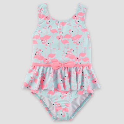 Toddler Girls' Flamingo One Piece Swimsuit - Just One You® made by carter's Blue 3T