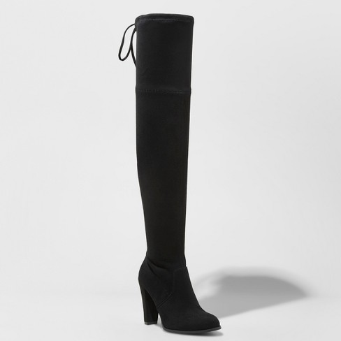 Women's Nikka Heeled Over the Knee Sock Boots - A New Day™ - image 1 of 3
