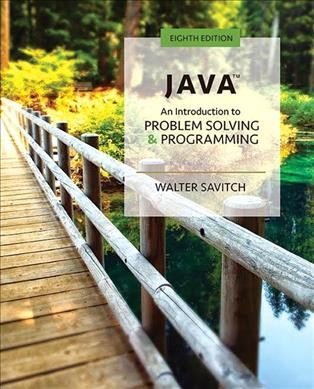 java an introduction to problem solving and programming 6th edition by walter savitch