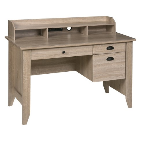 Executive Desk with Hutch USB And Charger Hub - OneSpace - image 1 of 4