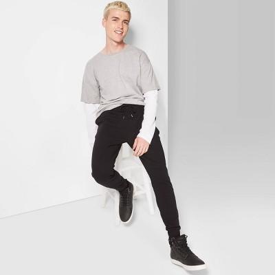 Men's Knit Drop Crotch Jogger Pants - Original Use™ Black 2XL