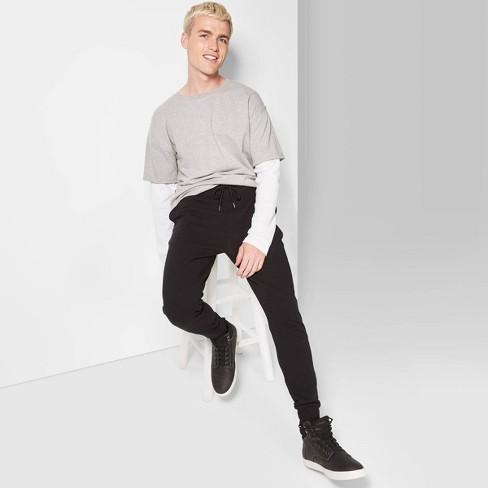Men's Knit Drop Crotch Jogger Pants - Original Use™ Black - image 1 of 3