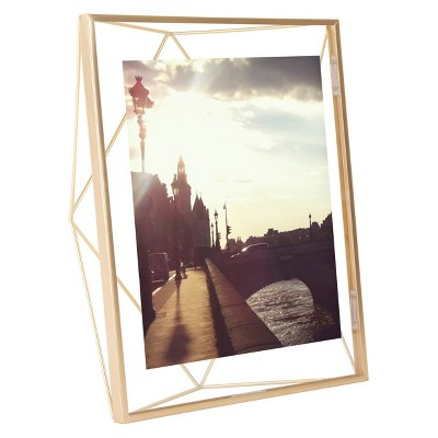 "8"" x 10"" Prisma Photo Display Frame Matte Brass - Umbra"