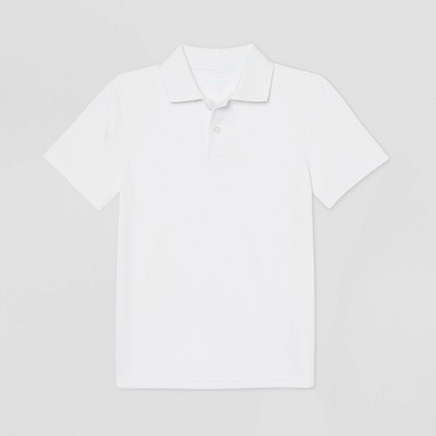 Boys' Short Sleeve Performance Uniform Polo Shirt - Cat & Jack™ White
