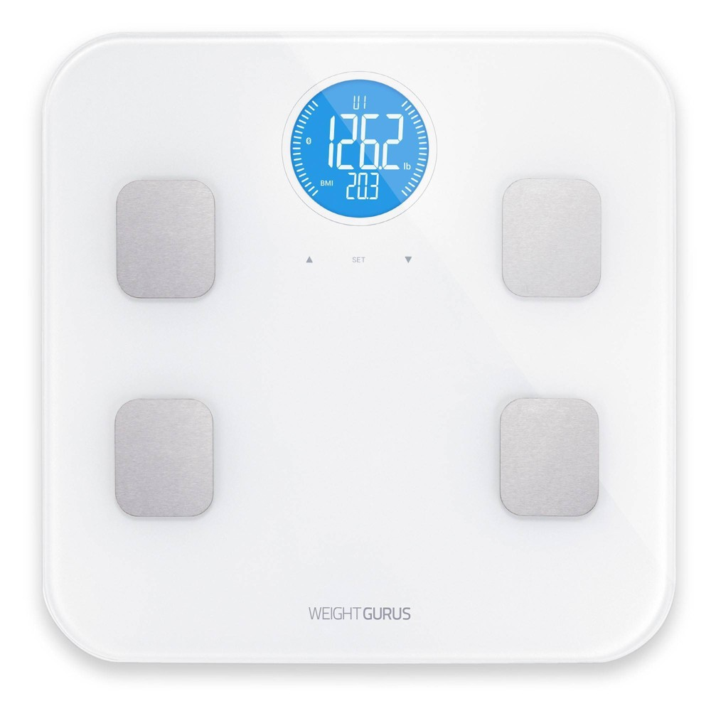 Image of Bluetooth Body Composition Scale White - Weight Gurus