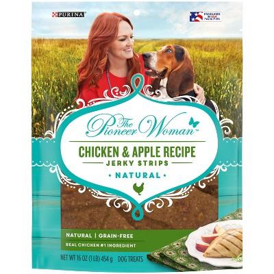 Purina The Pioneer Woman Chicken & Apple Jerky Strips Chewy Dog Treats - 16oz