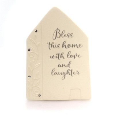 Foundations Bless Home Plaque Housewarming Welcome  -  Decorative Figurines