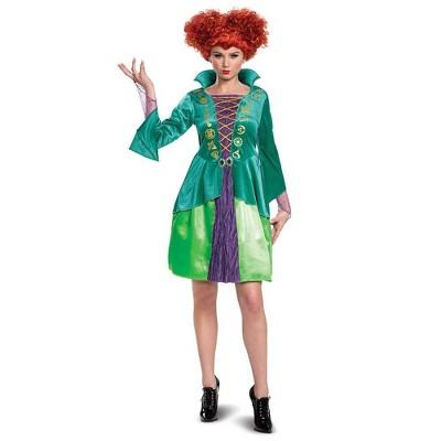 Adult Disney Hocus Pocus Winifred Sanderson Halloween Costume Dress