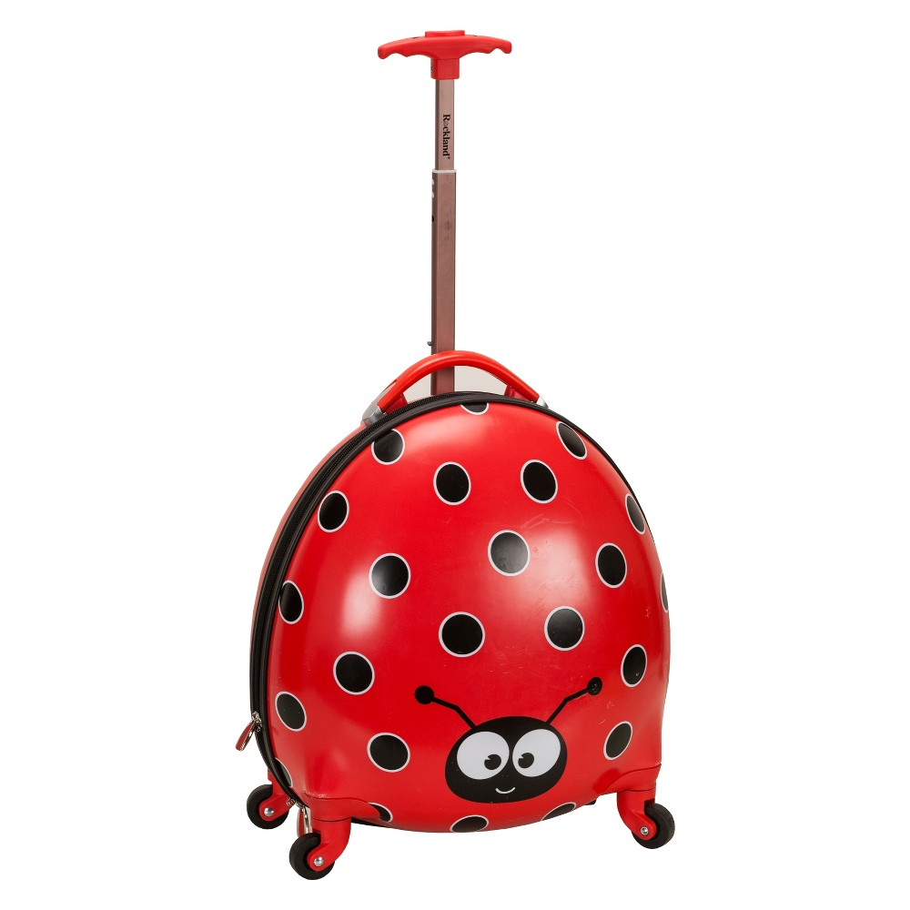 "Image of ""Rockland 17"""" Kids My First Suitcase - Lady Bug, Kids Unisex, Red"""