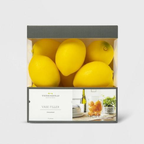 11pc Unscented Lemon Vase Filler Yellow Threshold